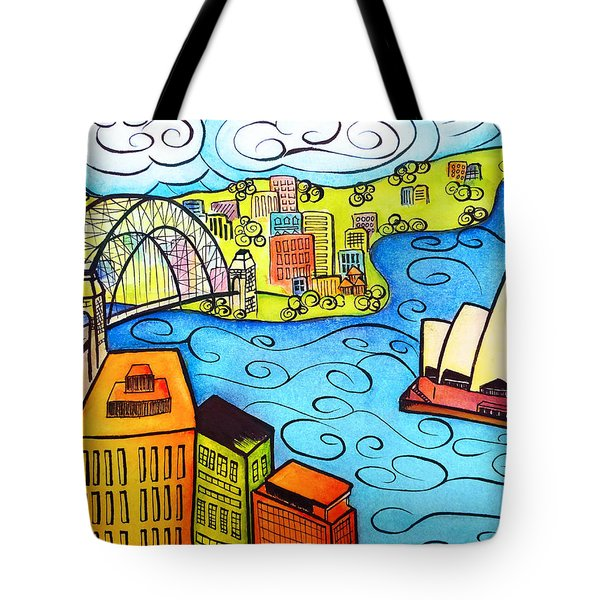 Sydney Harbour  Tote Bag by Oiyee At Oystudio