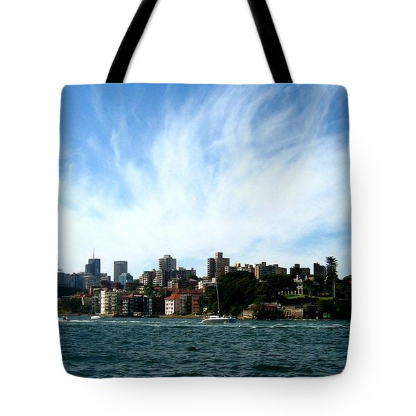 Tote Bag featuring the photograph Sydney Harbour Sky by Leanne Seymour