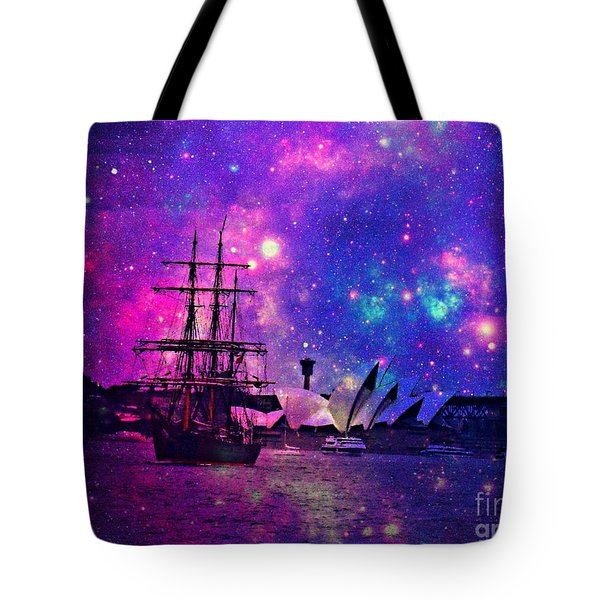 Sydney Harbour Through Time And Space Tote Bag