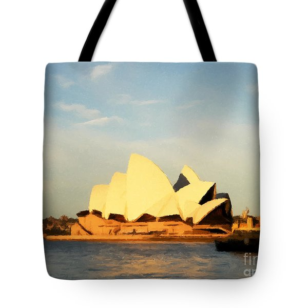 Sydney Opera House Painting Tote Bag by Pixel Chimp