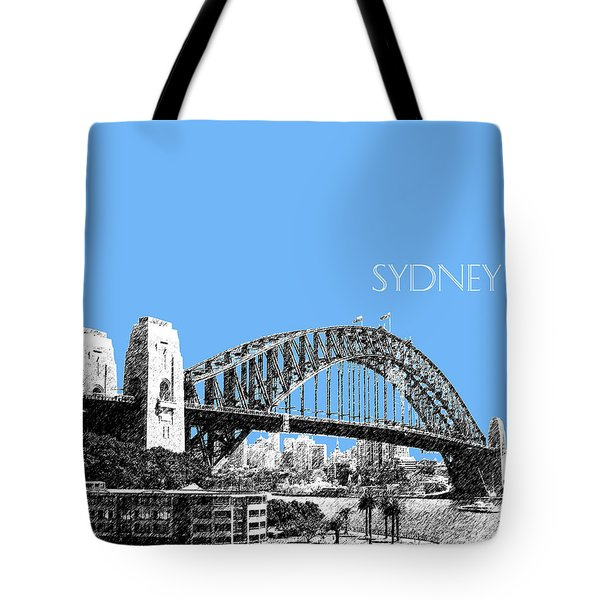 Sydney Skyline 2 Harbor Bridge - Light Blue Tote Bag