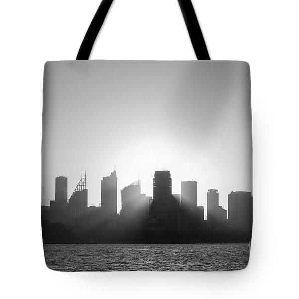 Sydney's Evening B/w Tote Bag