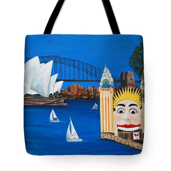 Sydneyscape - Featuring Luna Park  Tote Bag by Lyndsey Hatchwell