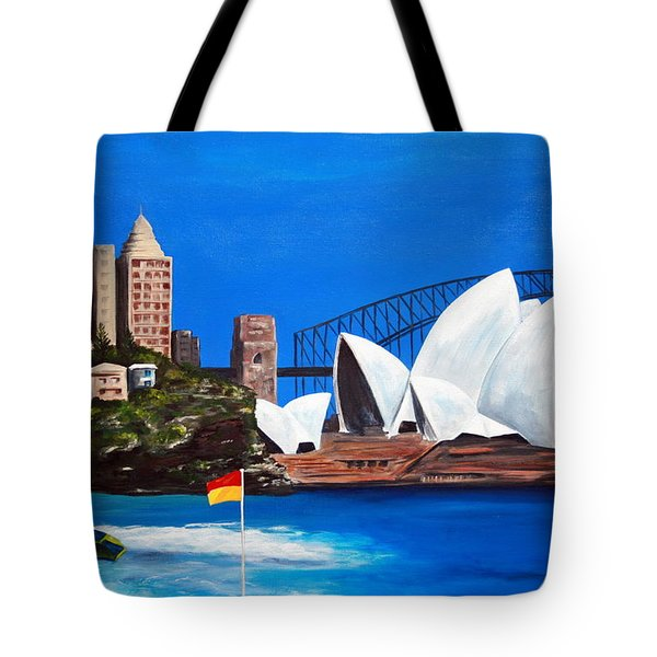 Sydneyscape - Featuring Opera House Tote Bag by Lyndsey Hatchwell