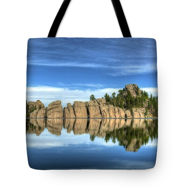 Tote Bag featuring the photograph Sylvan Lake Reflections by Mel Steinhauer