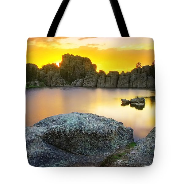 Tote Bag featuring the photograph Sylvan Lake Sunset by Kadek Susanto