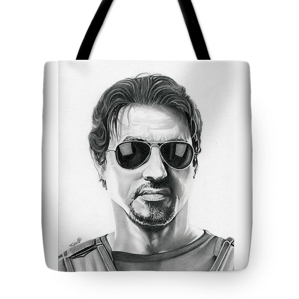 Sylvester Stallone - The Expendables Tote Bag