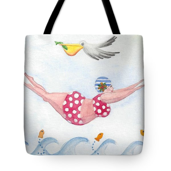 Sylvia Diving Tote Bag