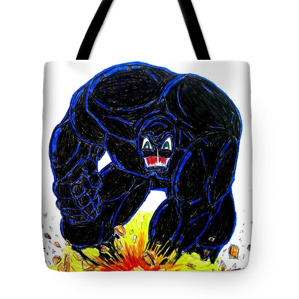 Symbiote Guy Tote Bag by Justin Moore