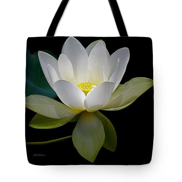 Symbolic White Lotus Tote Bag