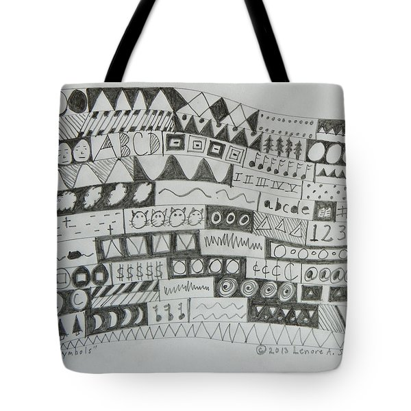 Symbols Tote Bag by Lenore Senior