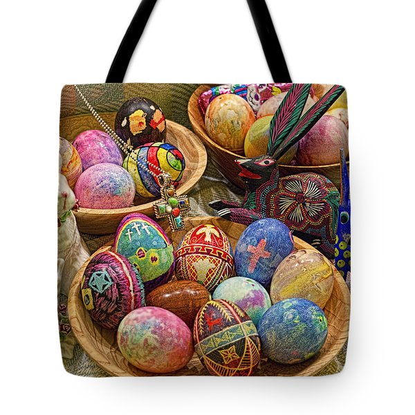 Symbols Of Easter- Spiritual And Secular Tote Bag by Gary Holmes