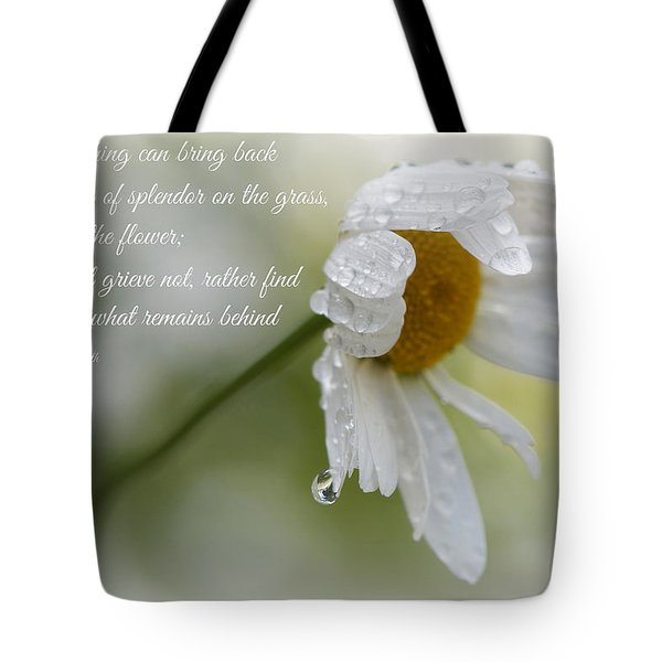 Sympathy Card Tote Bag by Lisa Knechtel
