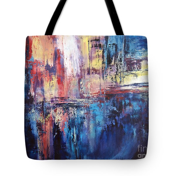 Symphony In Blue Tote Bag by Valerie Travers
