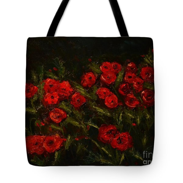 Symphony In Coquelicot Tote Bag by Denise Tomasura