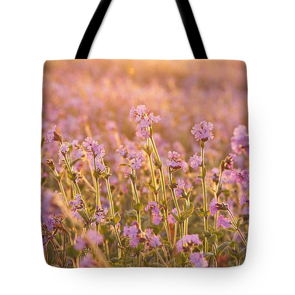 Symphony In Pink Tote Bag by Anne Gilbert