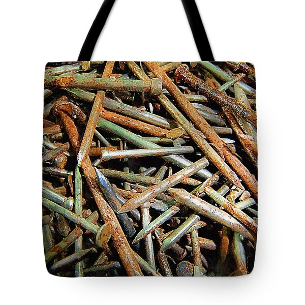 Symphony In Rusty Nails Tote Bag by RC deWinter