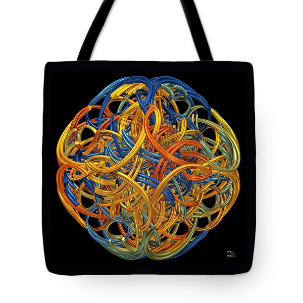 Tote Bag featuring the digital art Symphony by Manny Lorenzo