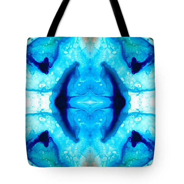 Synchronicity - Colorful Abstract Art By Sharon Cummings Tote Bag by Sharon Cummings