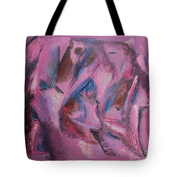 Tote Bag featuring the painting Syncopation 5 by Mini Arora