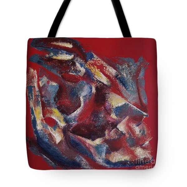Tote Bag featuring the painting Syncopation by Mini Arora