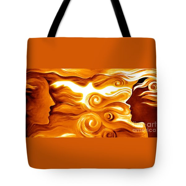 Synergy In Love Tote Bag by Gem S Visionary