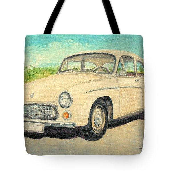 Syrena 105 - Polish Car Tote Bag