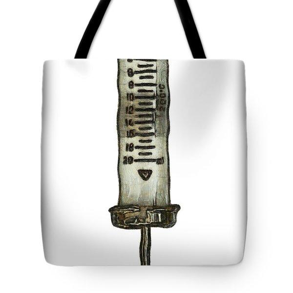 Syringe Tote Bag by Michal Boubin