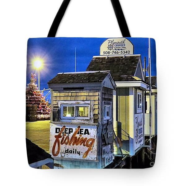 T Wharf Plymouth Massachusetts  Tote Bag