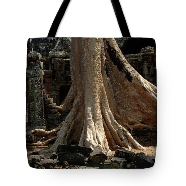 Ta Prohm Cambodia Tote Bag by Bob Christopher