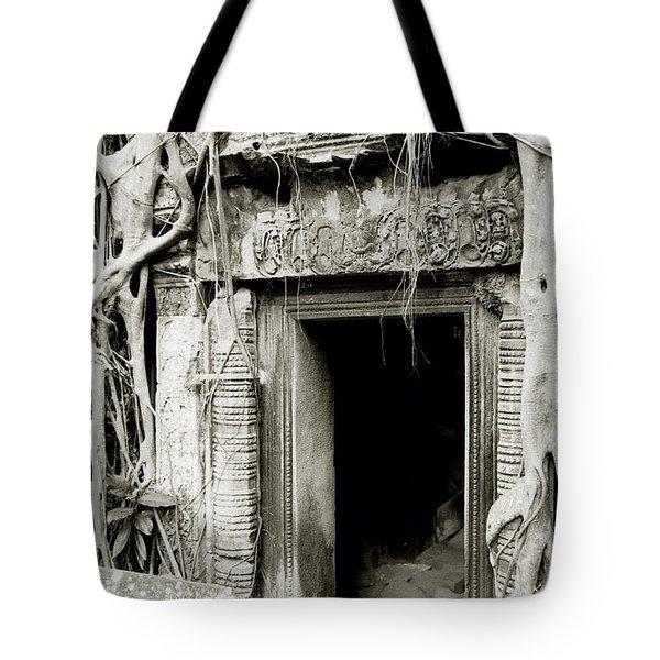 Ta Prohm Doorway Tote Bag