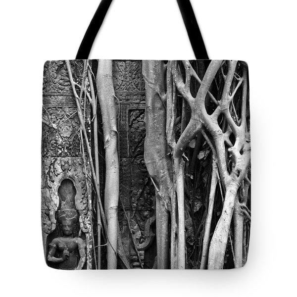 Ta Prohm Roots And Stone 09 Tote Bag