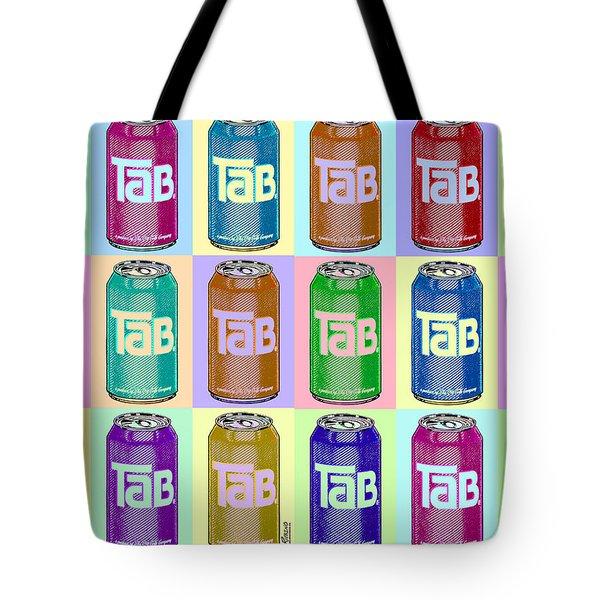 Tab Ode To Andy Warhol Repeat Horizontal Tote Bag