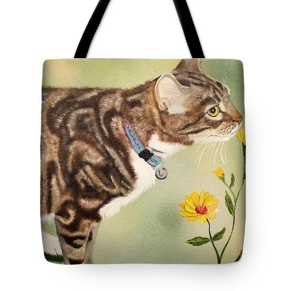 Tabby Tote Bag by Debbie LaFrance