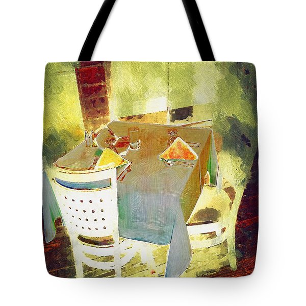 Table At The Fauve Cafe Tote Bag