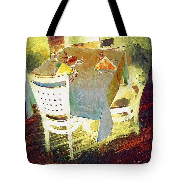 Table At The Fauve Cafe Tote Bag by RC deWinter