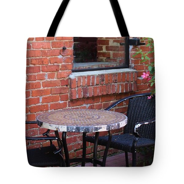 Tote Bag featuring the photograph Table For Two by Cynthia Guinn