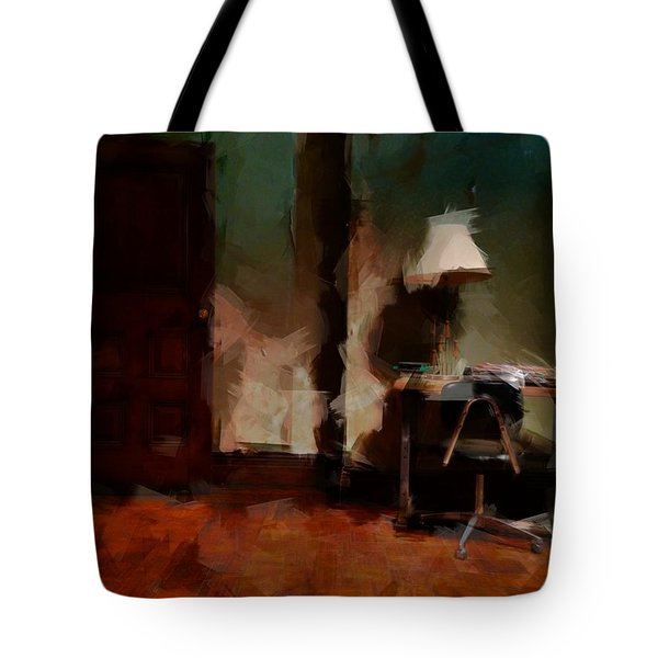 Table Lamp Chair Tote Bag by H James Hoff