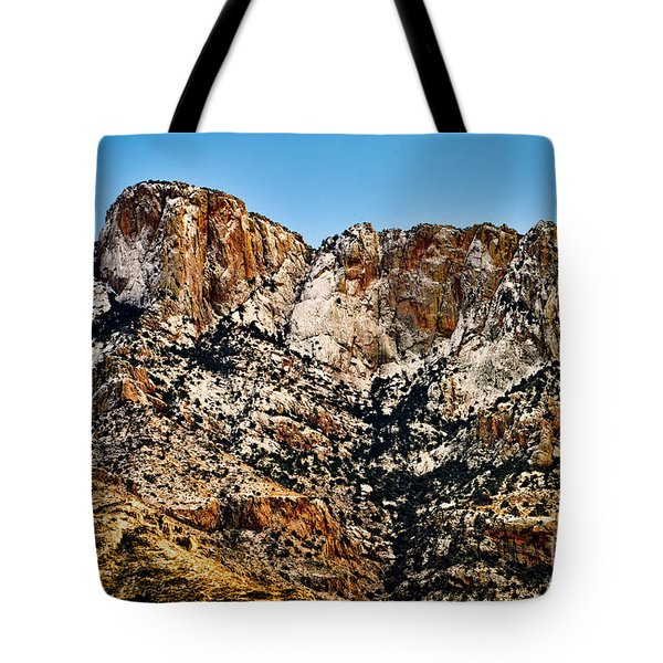 Tote Bag featuring the photograph Table Mountain In Winter 42 by Mark Myhaver