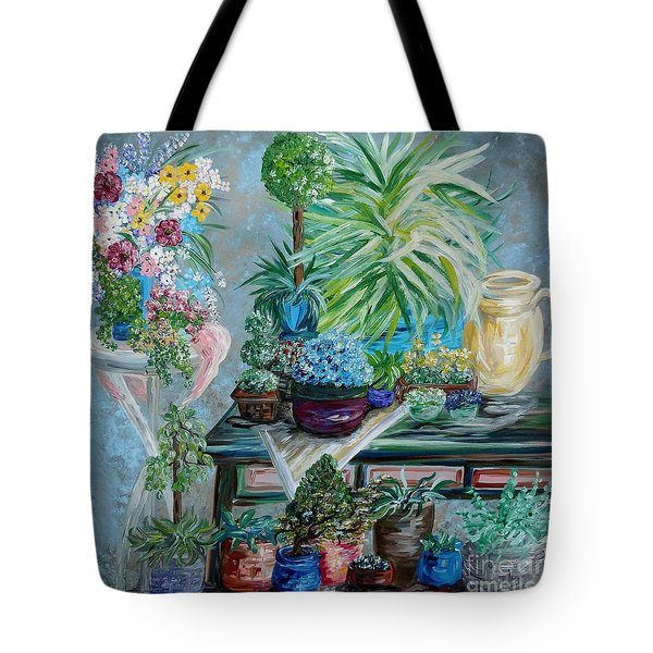 Table Of A Plant Lover Tote Bag by Eloise Schneider
