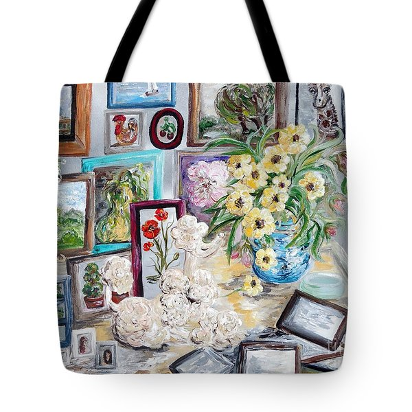 Table Of An Art Enthusiast Tote Bag by Eloise Schneider