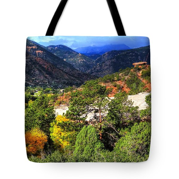 Tote Bag featuring the photograph Table Rock To Pike's Peak by Lanita Williams