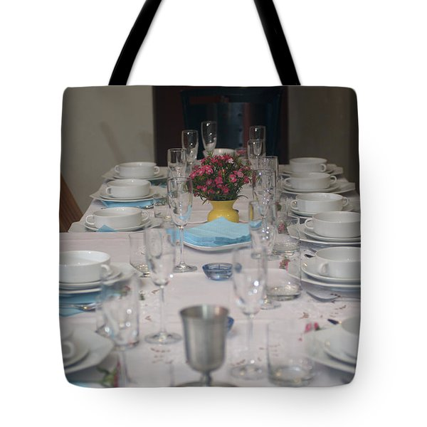 Table Set For A Jewish Festive Meal Tote Bag by Ilan Rosen