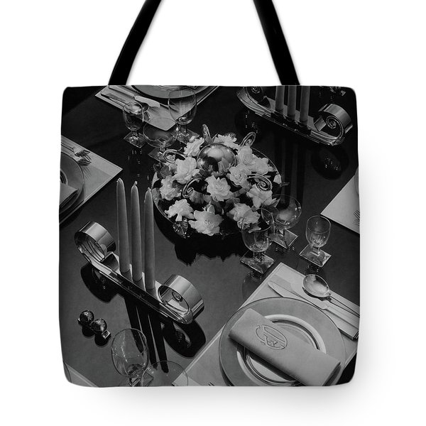 Table Setting Tote Bag