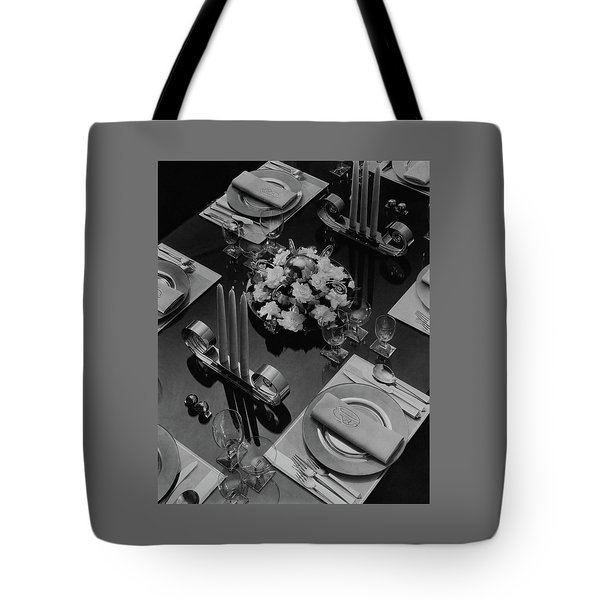 Table Setting Tote Bag