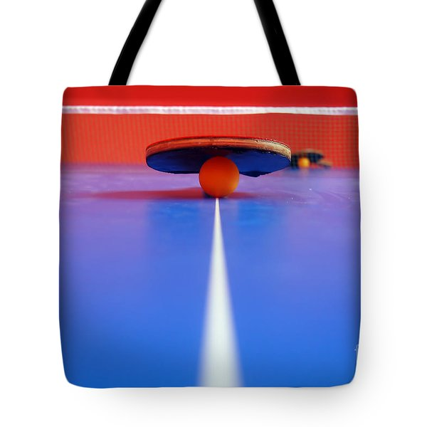 Table Tennis Tote Bag by Michal Bednarek