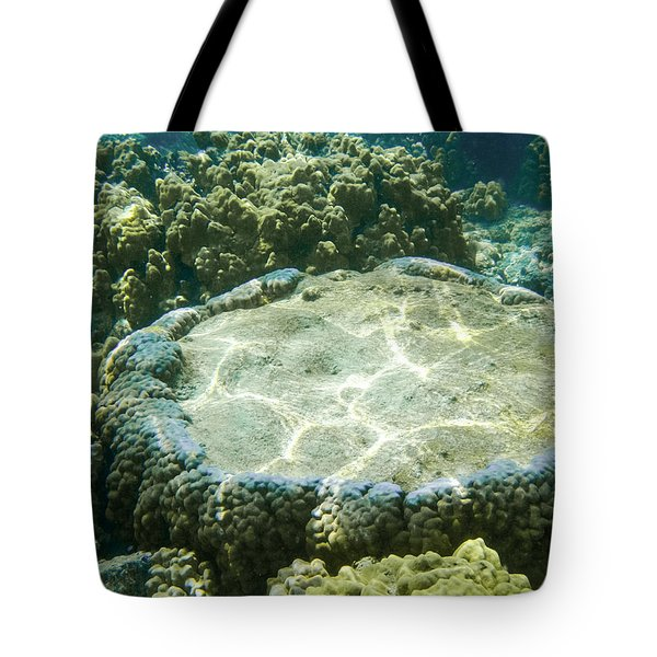 Table Top Coral Tote Bag by Denise Bird
