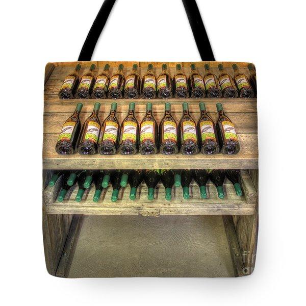 Table Wine Tote Bag by Bob Hislop