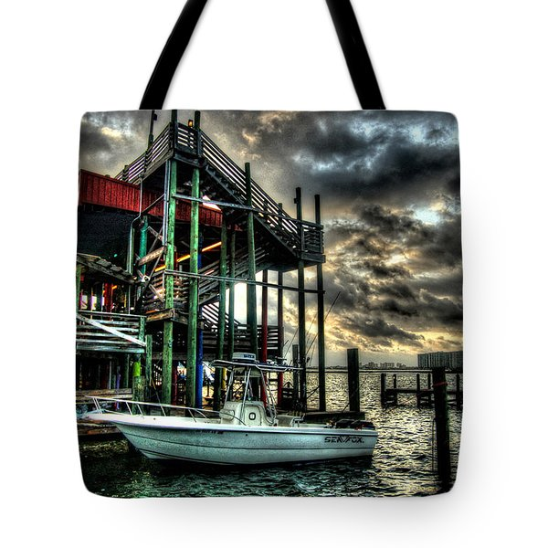Tote Bag featuring the digital art Tacky Jack Morning by Michael Thomas