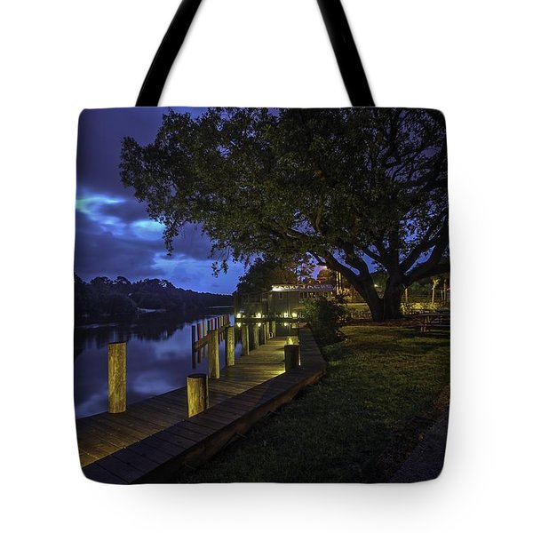 Tote Bag featuring the digital art Tacky Jacks Before The Storm by Michael Thomas